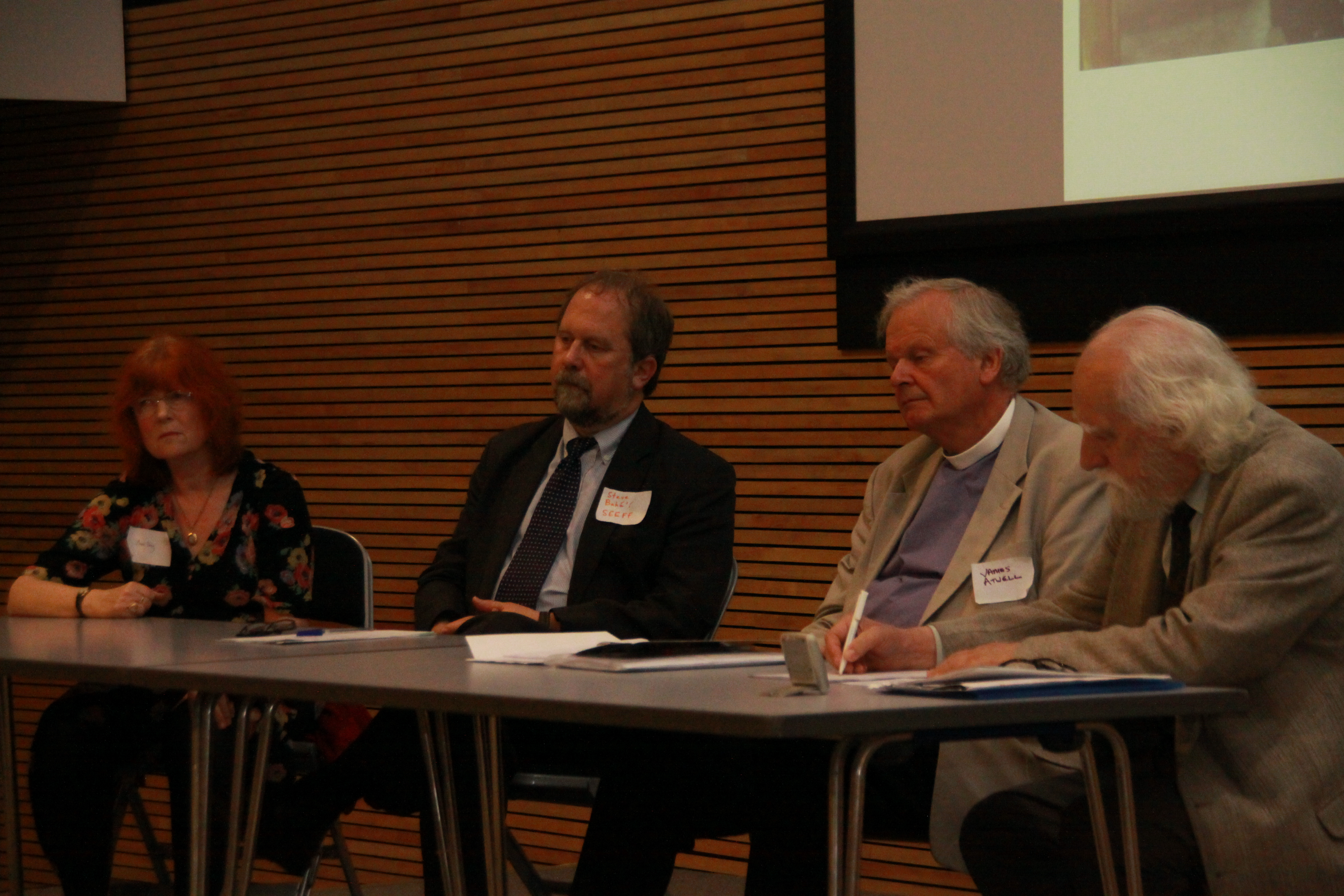 Dr Anna King, Stephen Vickers, The very rev James Atwell, Bede Gerard